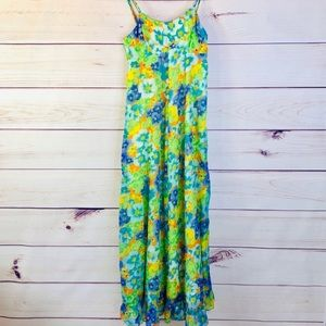 Vintage 60s Malhini Hawaii Floral Maxi Dress